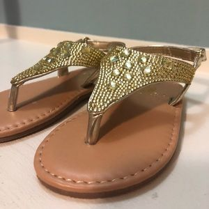 Other - GOLD TODDLER SANDALS